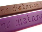 purple and brown silicone bracelets