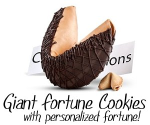 Giant Fortune Cookies