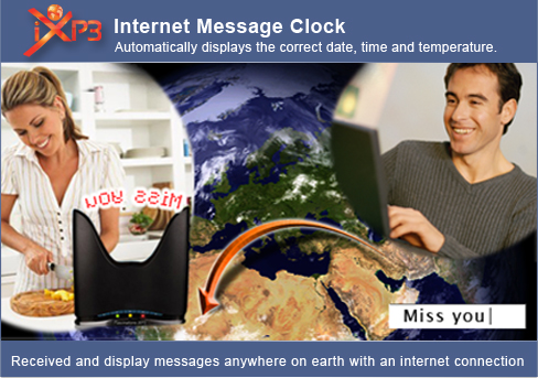 IXP3 internet message clock