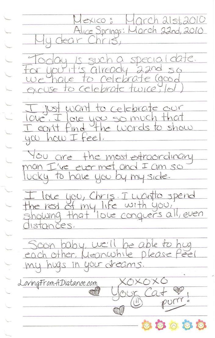 Sample long distance relationship love letters