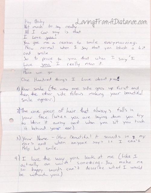 long distance relationship love letter