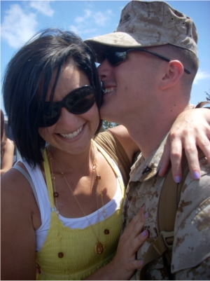military long distance couple