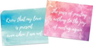 Includes 2 FREE Long Distance Relationship Quote Prints