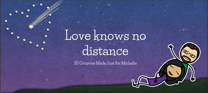 long distance relationship coupon book cover