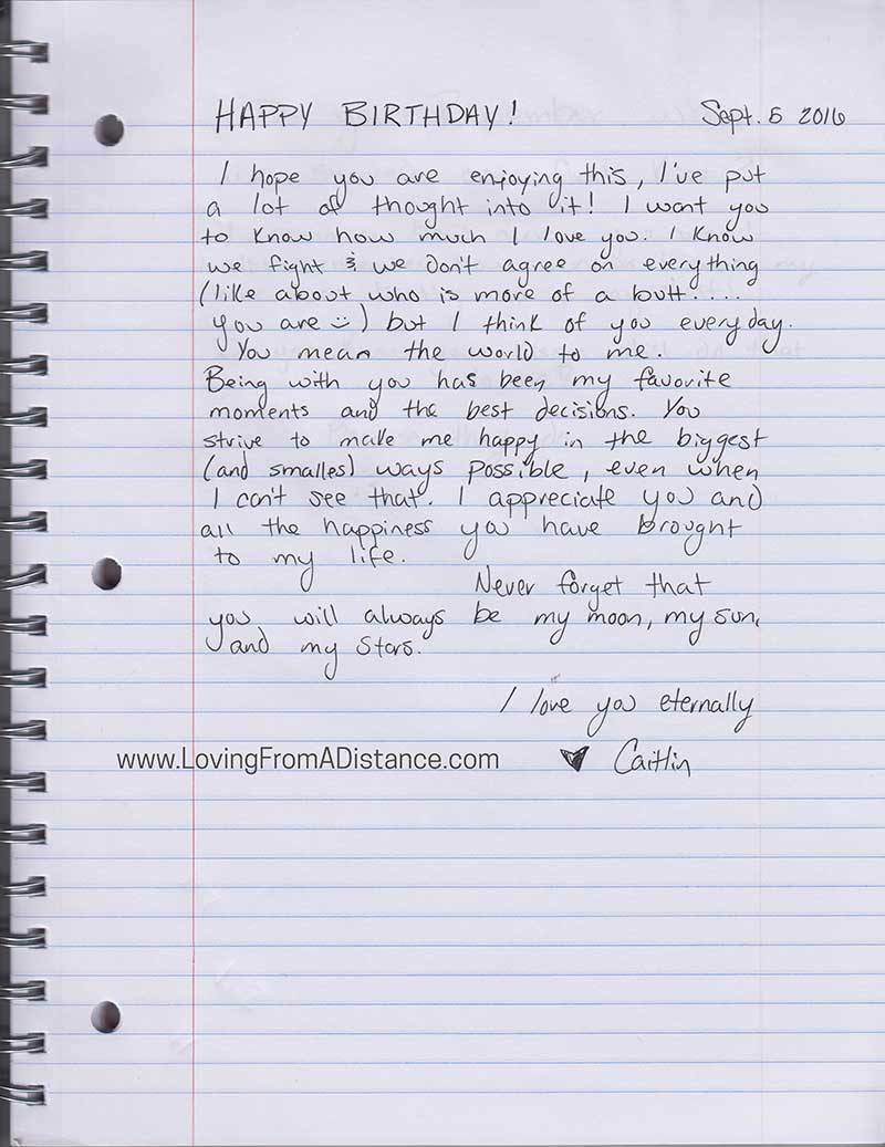 Sample long distance relationship love letters