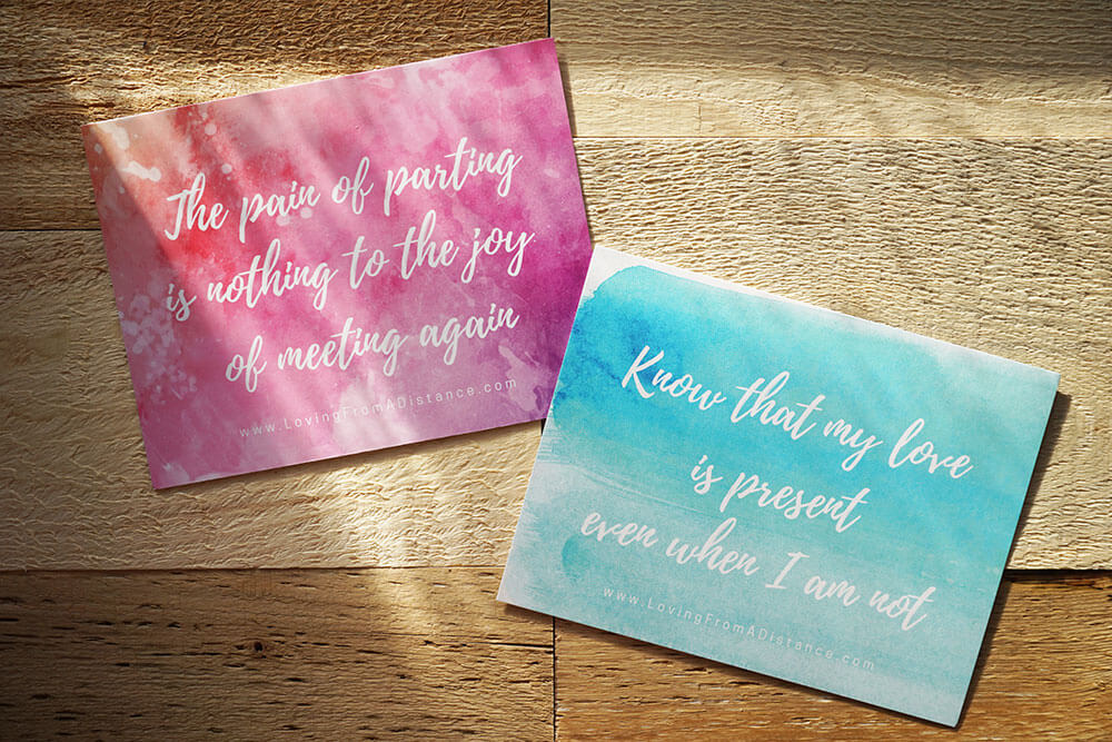 Free Long Distance Relationship Quote Prints by Mail - Order Now!